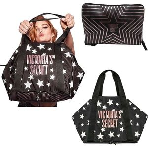 VICTORIA`S SECRET Shimmer Packable Weekender Tote